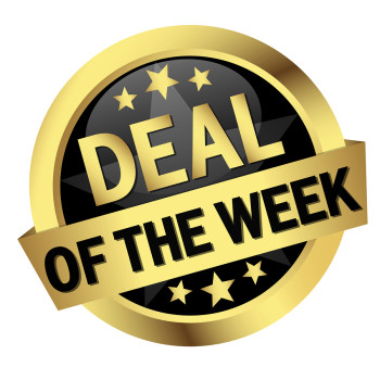 golden button with banner and text Deal Of The Week
