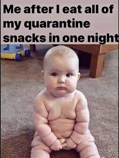 covid baby meme